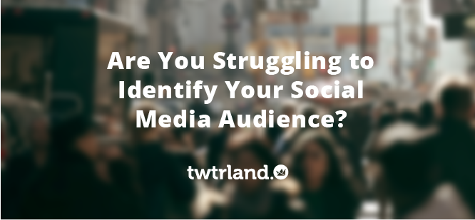 Are You Struggling To Identify Your Social Media Audience?
